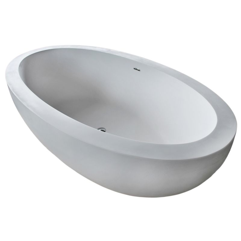 "Avano AV7541CBSXCWXX Freestanding Bathtubs 75-1/2"" Man Made Stone Soaking Bathtu"