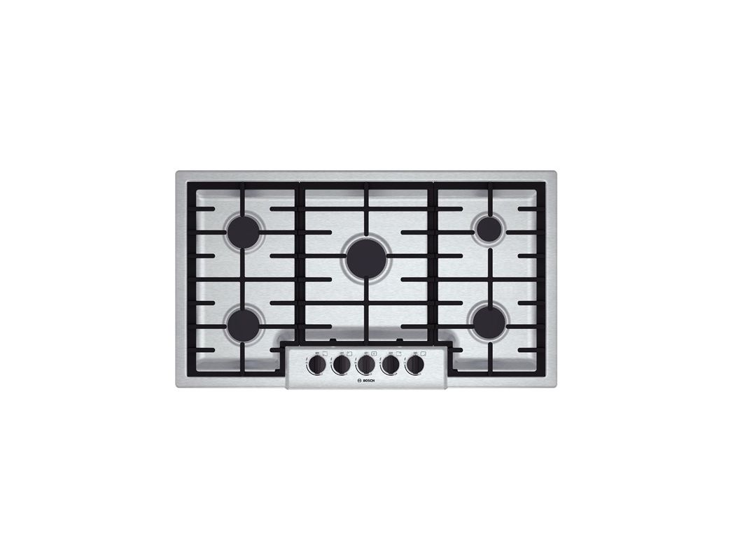 Bosch NGM5655UC 36 Inch Gas Cooktop with Automatic Electronic Re-Ignition photo