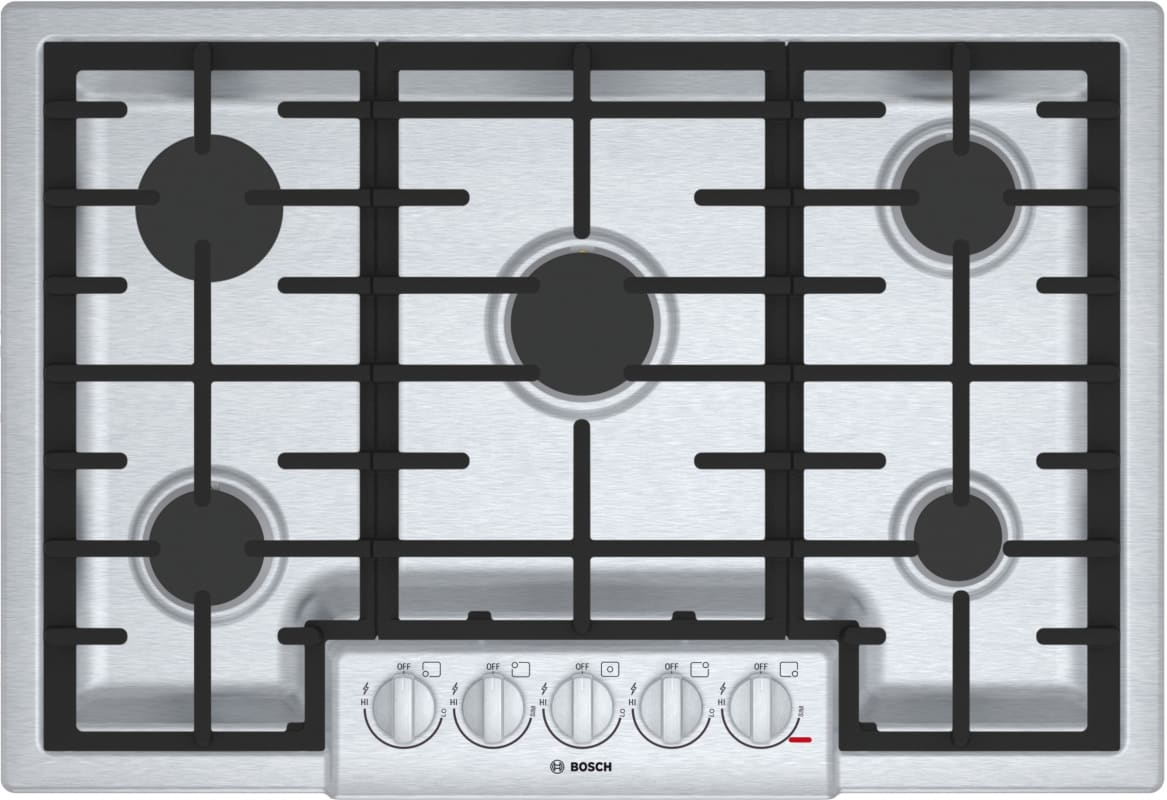 Bosch NGM8056UC 800 Series 30 Inch Wide Built-In Gas Cooktop with 5 Sealed Burne photo