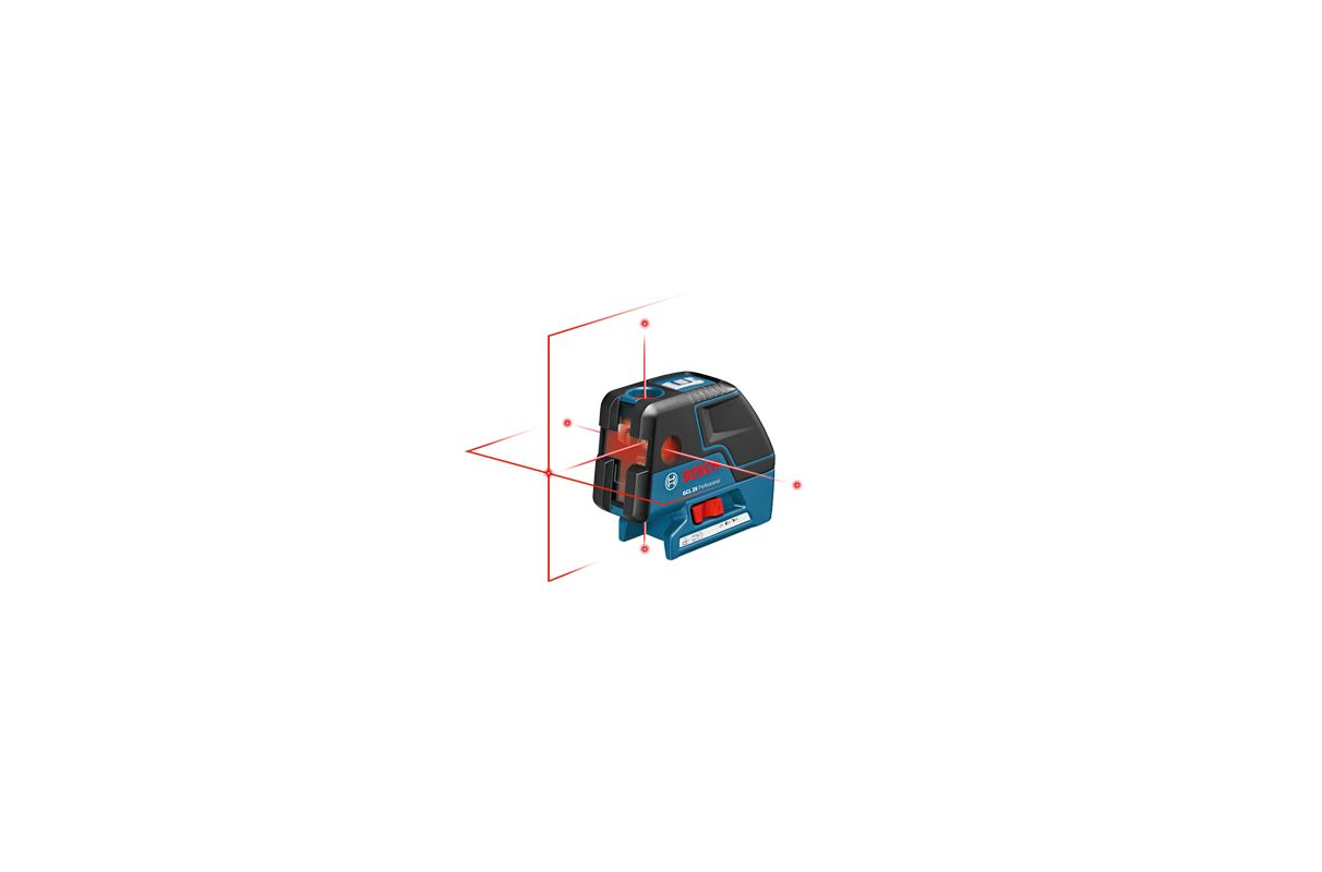Bosch GCL 25 Five-Point Self Leveling Alignment Laser with Cross-Line photo