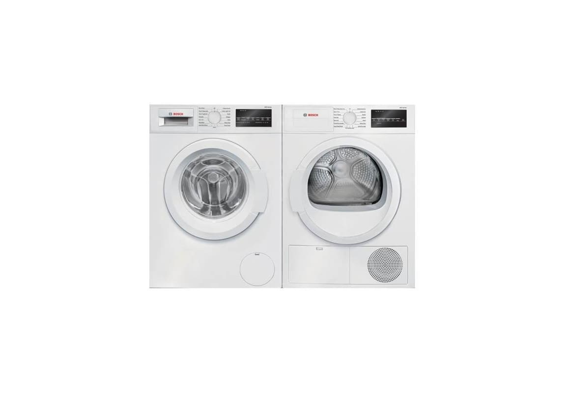 Bosch WAT28400UC-WTG86400UC Front Loading Washer and Dryer Pair - 2.2 Cu. Ft. Wa photo