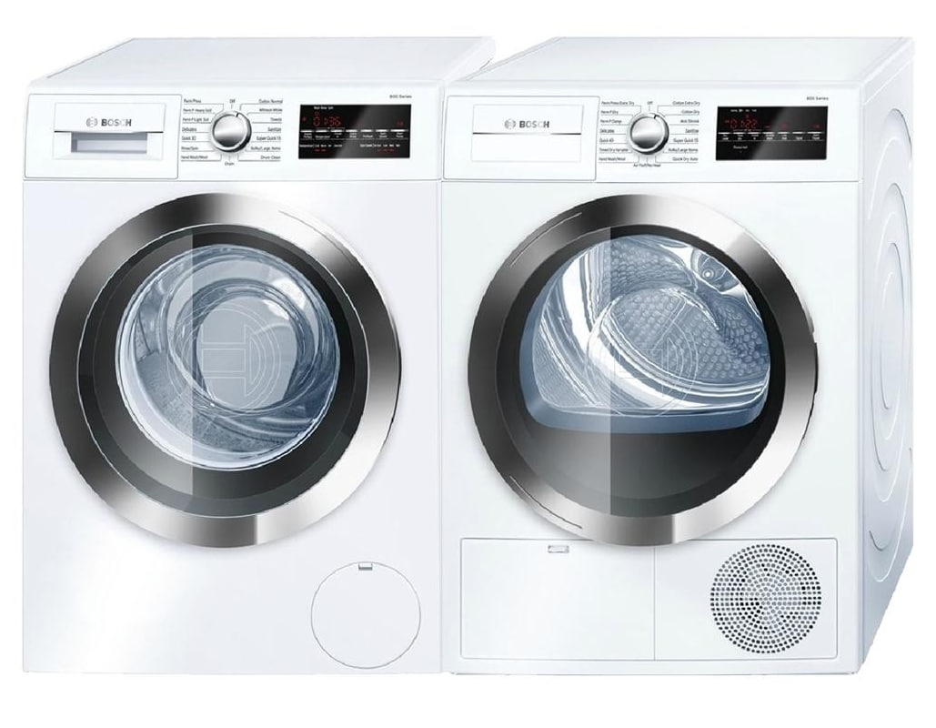 Bosch WAT28402UC-WTG86402UC Front Loading Washer and Dryer Pair - 2.2 Cu. Ft. Wa photo