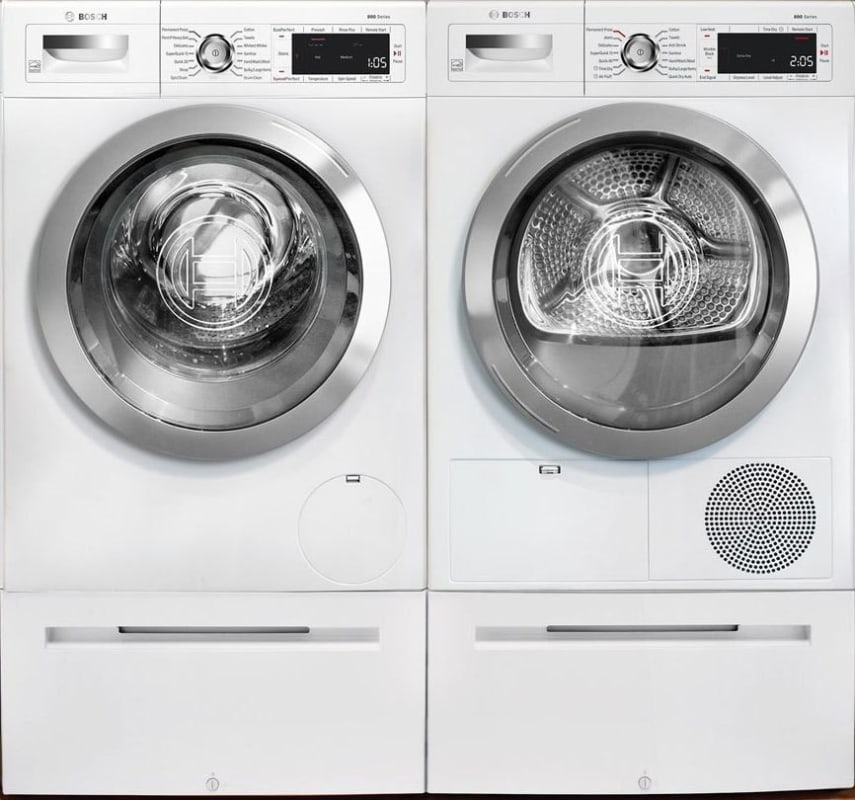 Bosch WAW285H2UC-WTG865H2UC Washer and Dryer Pair - 2.2 Cu. Ft. Washer and 4.4 C photo