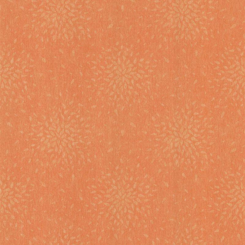 Brewster 2532-62104 Summer Orange Modern Floral Wallpaper