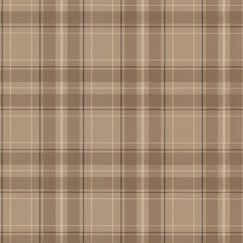 Brewster 2604-21222 Caledonia Beige Plaid Wallpaper