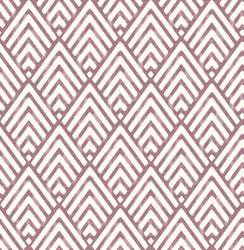 Brewster 2625-21829 Vertex Burgundy Diamond Geometric Wallpaper