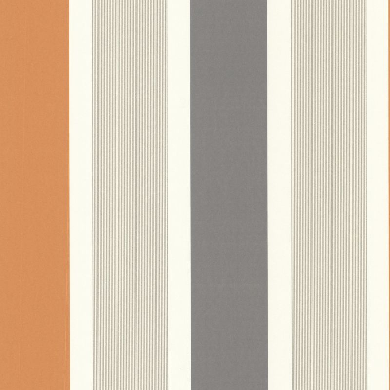 Brewster 488-31226 Horizon Orange Stripe Wallpaper