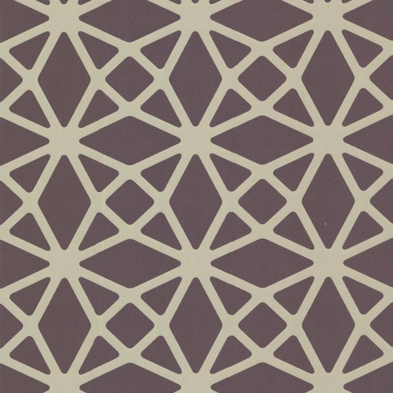 Brewster 488-31245 Enterprise Purple Lattice Wallpaper