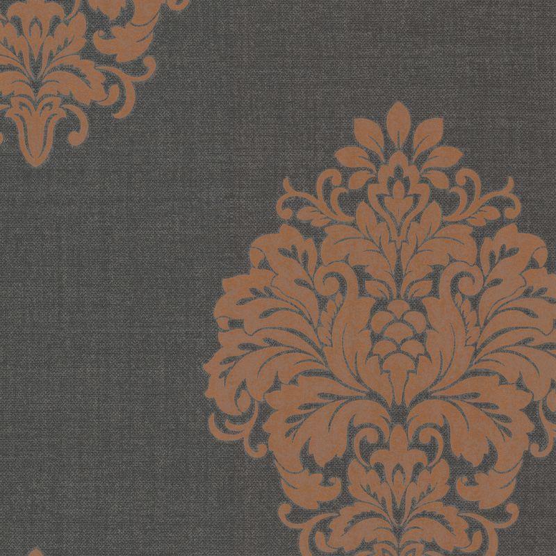 Brewster 671-68531 Duchess Orange Damask Wallpaper