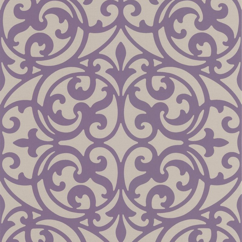 Brewster DL30627 Sonata Purple Ironwork Wallpaper