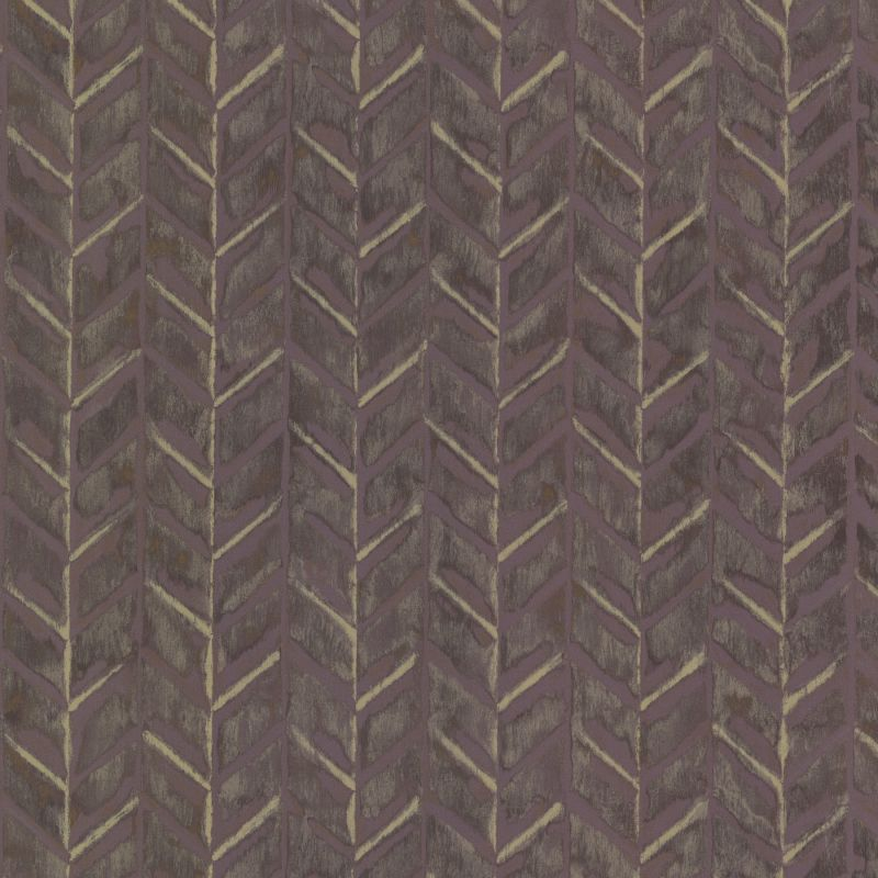 Brewster HZN43066 Foothills Purple Herringbone Texture Wallpaper