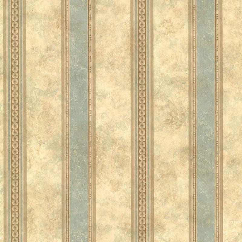 Brewster SRC76191 Castine Aqua Tuscan Stripe Wallpaper