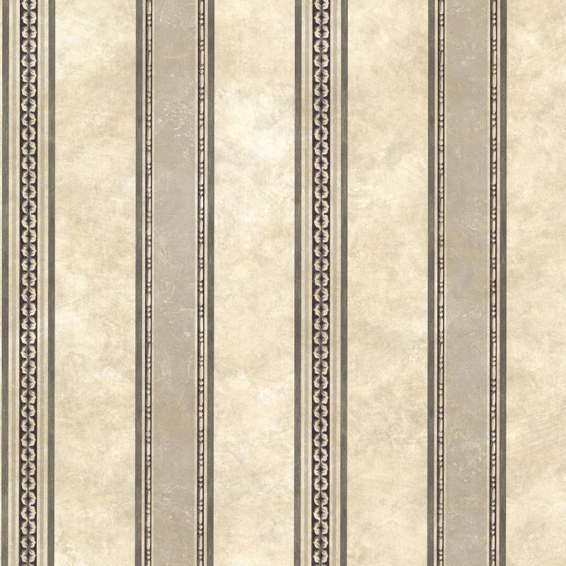 Brewster SRC761910 Castine Charcoal Tuscan Stripe Wallpaper