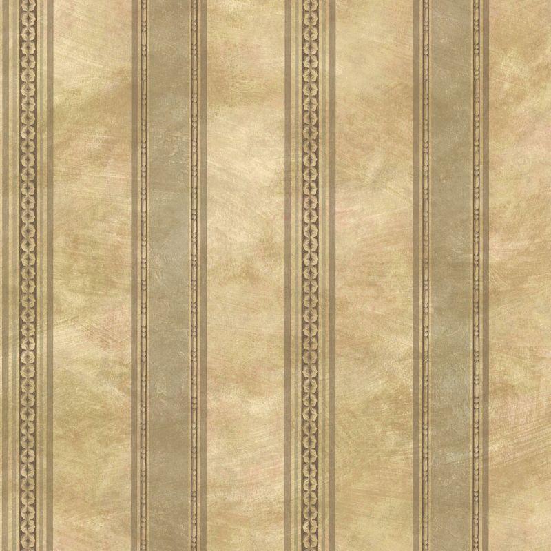Brewster SRC76197 Castine Moss Tuscan Stripe Wallpaper