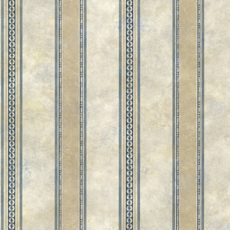 Brewster SRC76198 Castine Blue Tuscan Stripe Wallpaper