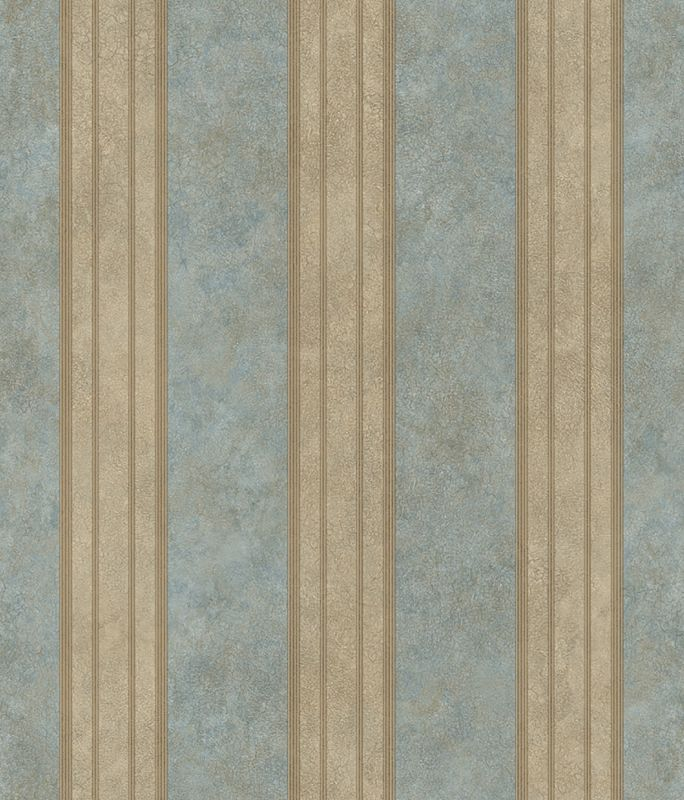 Brewster TLL26073 Sweetwater Aqua Tuscan Stripe Wallpaper