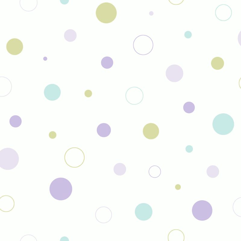 Brewster TOT47163 Wobbles Purple Geometric Toss Wallpaper