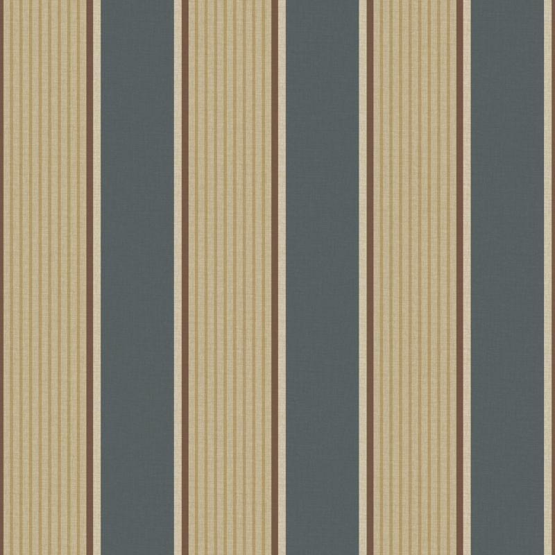 Brewster TOT47273 Turf Navy Stripe Wallpaper