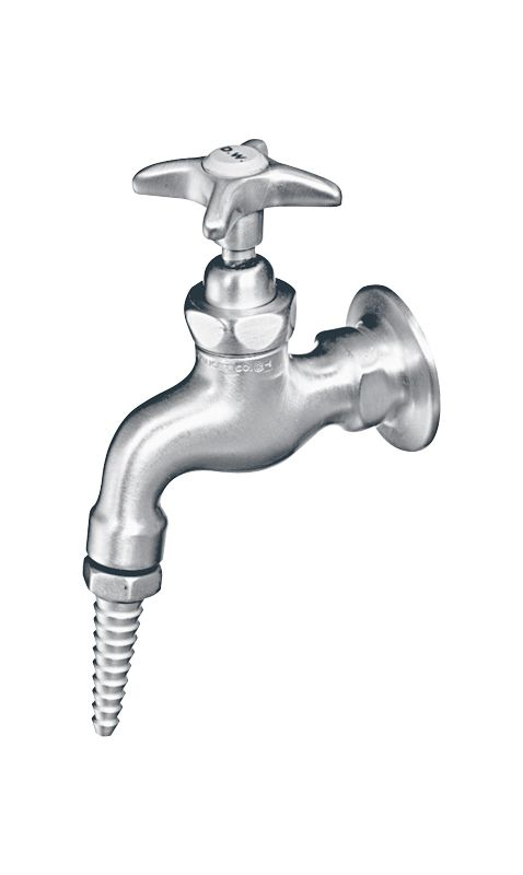 Chicago Faucets 972 Laboratory Distilled Water Faucet with Removable Serrated No