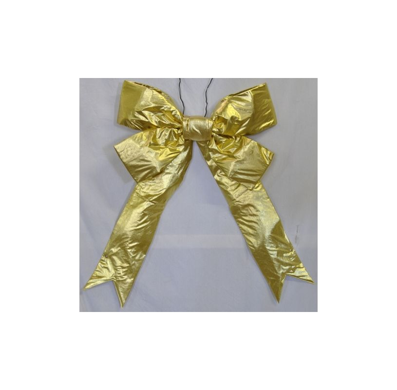 Christmas at Winterland WL-BOW-48-GO 48 Inch Gold Holiday Bow