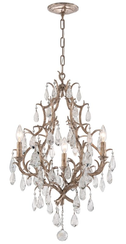 Corbett Lighting 163-03 Amadeus 3 Light Candle Style Chandelier with Hand Crafte
