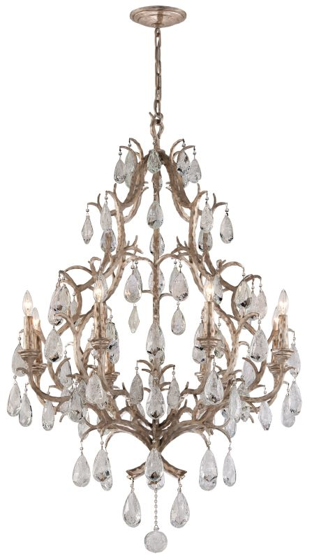 Corbett Lighting 163-08 Amadeus 8 Light Candle Style Chandelier with Hand Crafte
