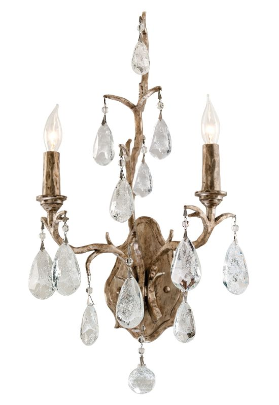 Corbett Lighting 163-12 Amadeus 2 Light Candle Style Wall Sconce with Hand Craft