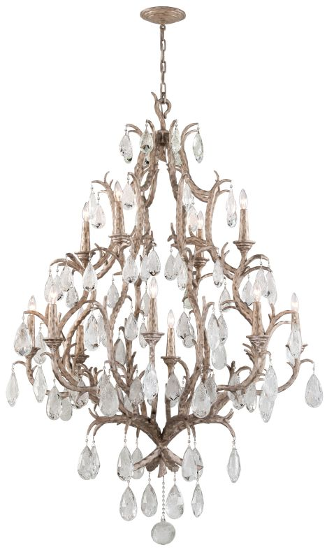 Corbett Lighting 163-712 Amadeus 12 Light Candle Style Chandelier with Hand Craf
