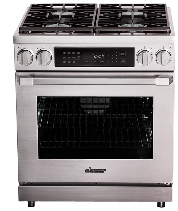 Dacor HDPR30/NG 30 Inch Wide 5.2 Cu. Ft. Heritage Pro Slide-In Dual Fuel (Electr photo