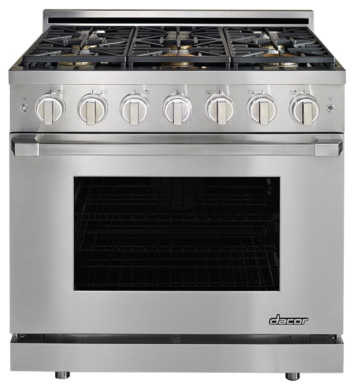 Dacor HGPR36/NG 36 Inch Wide 5.2 Cu. Ft. Heritage Natural Gas Convection Range photo