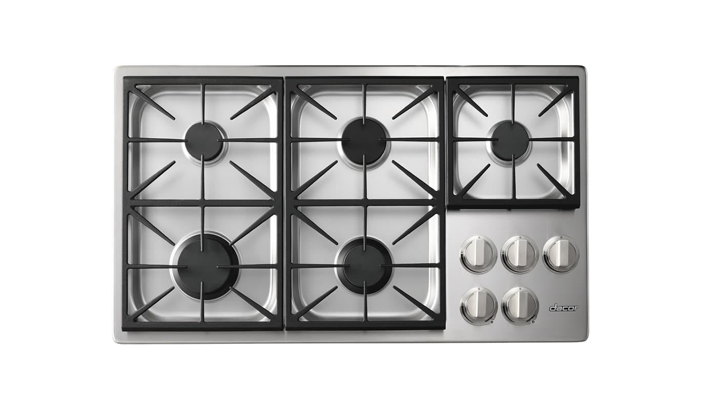 Dacor HPCT365G/LP 36 Inch Wide Built-In Heritage Pro Liquid Propane Cooktop photo