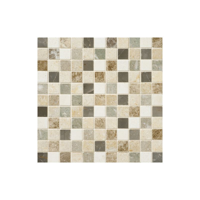 "Daltile DA87-11MS1U Marble Brenta Blend 1"" x 1"" Honed Multi-Surface Mosaic Tile"