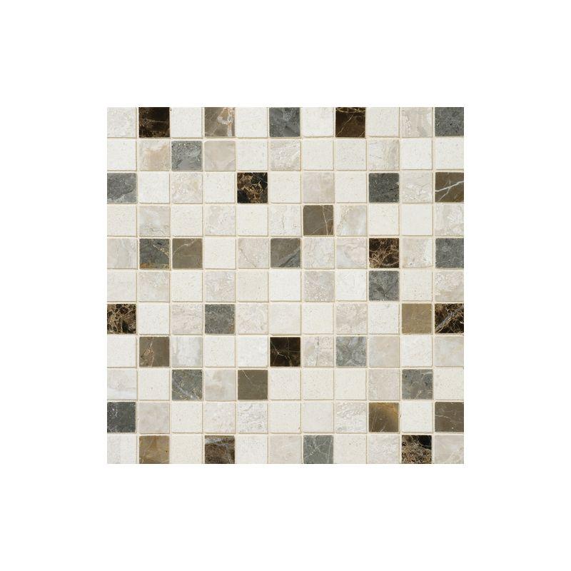 "Daltile DA89-11MS1L Marble Taro Blend 1"" x 1"" Polished Multi-Surface Mosaic Tile"