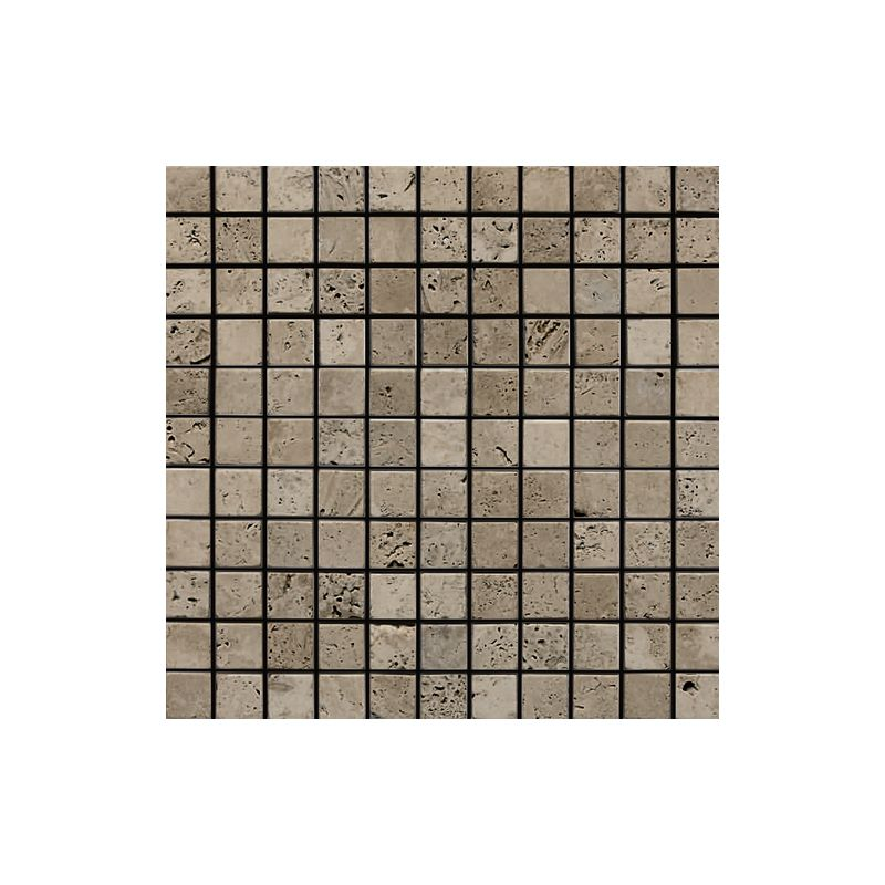"Daltile M744-11MSTS1P Marble Silver Screen 1"" x 1"" Tumbled Multi-Surface Mosaic"
