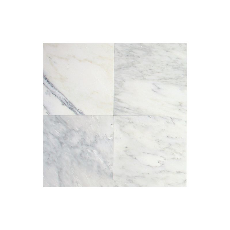 "Daltile M190-12121U Marble First Snow 12"" x 12"" Elegance Honed Stone Multi-Surfa"