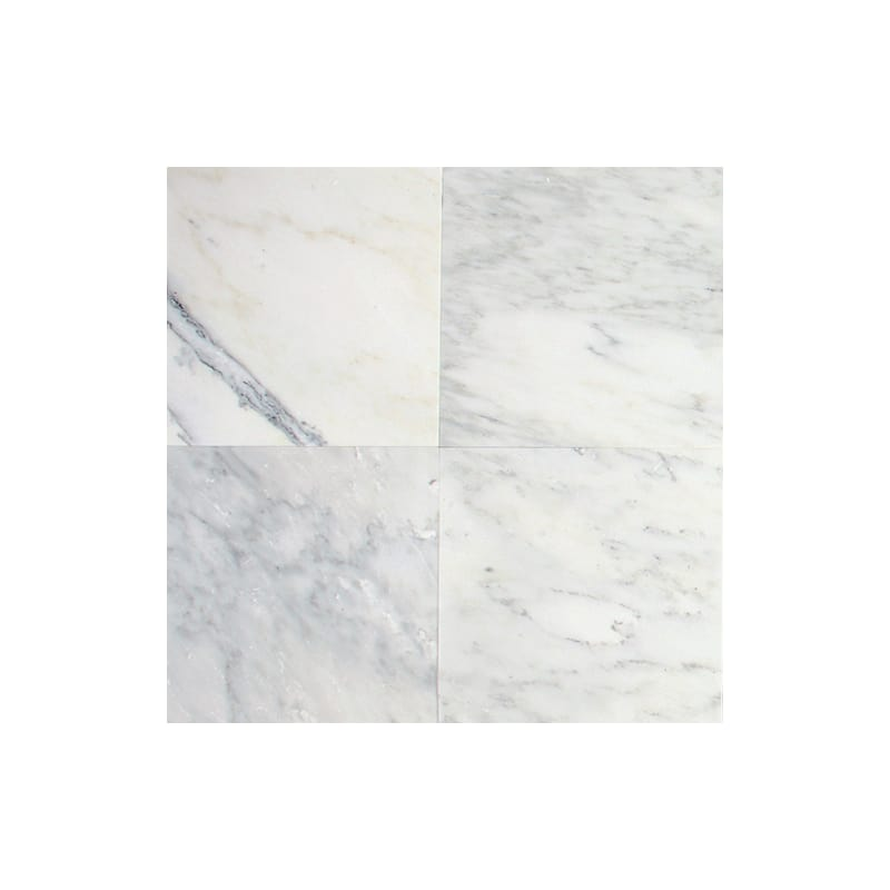 "Daltile M190-4121U Marble First Snow 12"" x 4"" Honed Stone Multi-Surface Linear O"