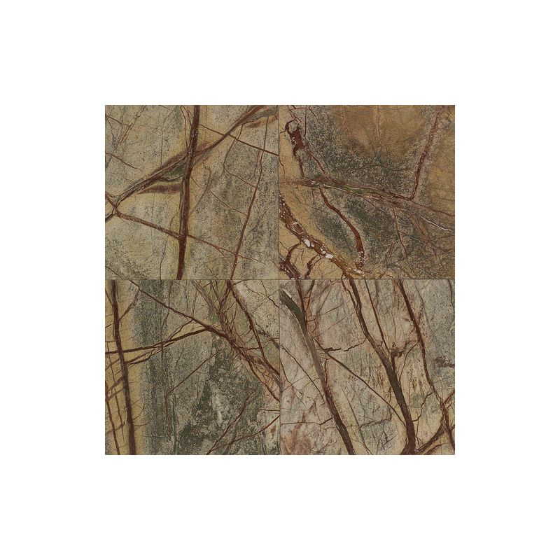 "Daltile M543-12121L Marble Rainforest Green 12"" x 12"" Polished Stone Multi-Surfa"