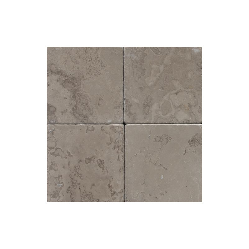 "Daltile M744-44TS1P Marble Silver Screen 4"" x 4"" Tumbled Stone Multi-Surface Til"
