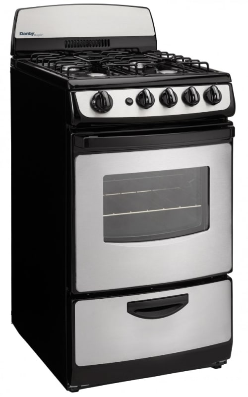 Danby DR201GLP 20 Inch Wide 2.4 Cu. Ft Free Standing Gas Range with Large Viewin photo