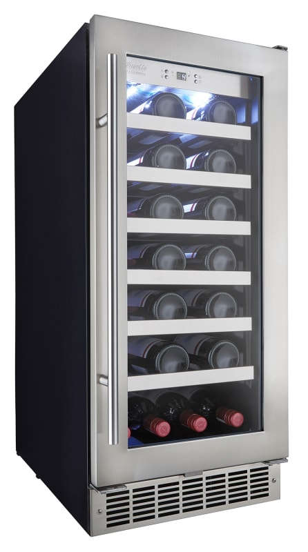 Danby DWC031D1 15 Inch Wide 28 Bottle Capacity Built-In Wine Cooler with LED Sho photo