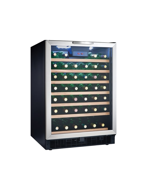 Danby DWC508 24 Inch Wide 50 Bottle Capacity Free Standing Wine Cooler with LED photo