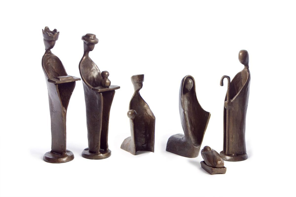 Danya B ZD5108 Bronze Nativity Figurines - Set of 6