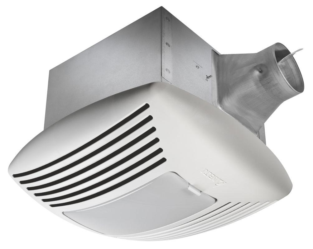 Delta Electronics SIG110HL 110 CFM 0.4 Sone Ceiling Mounted Fan with Light, Adju photo