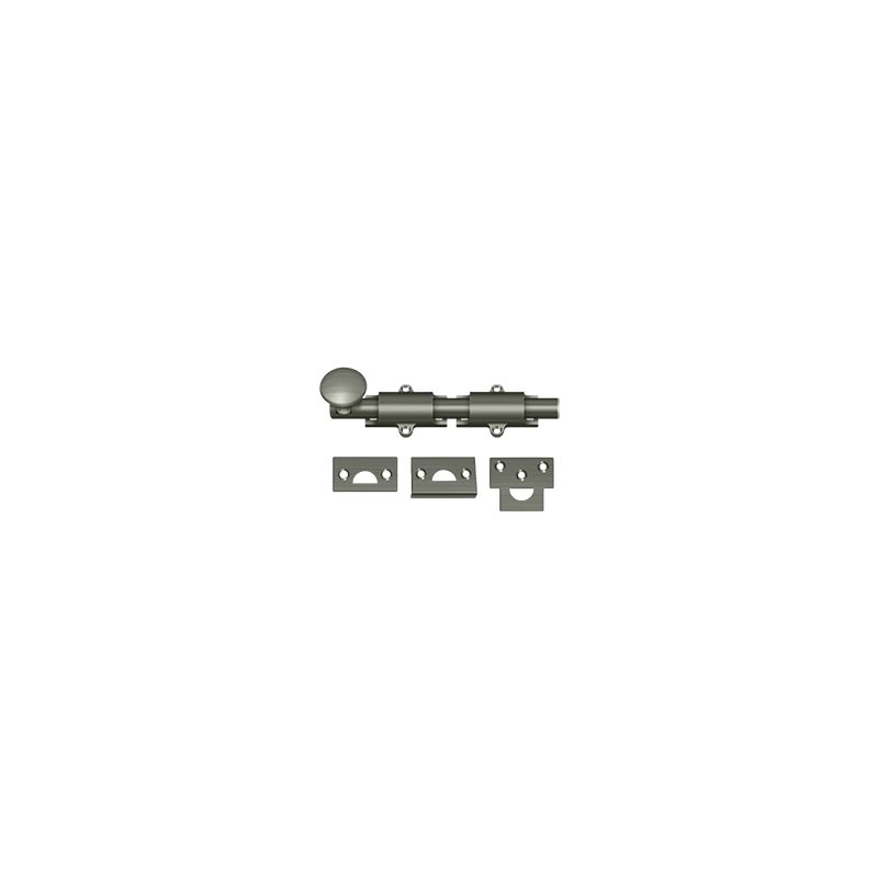Deltana 6SB 6 Inch Heavy Duty Surface Bolt with 1-1/4 Inch Throw Deal