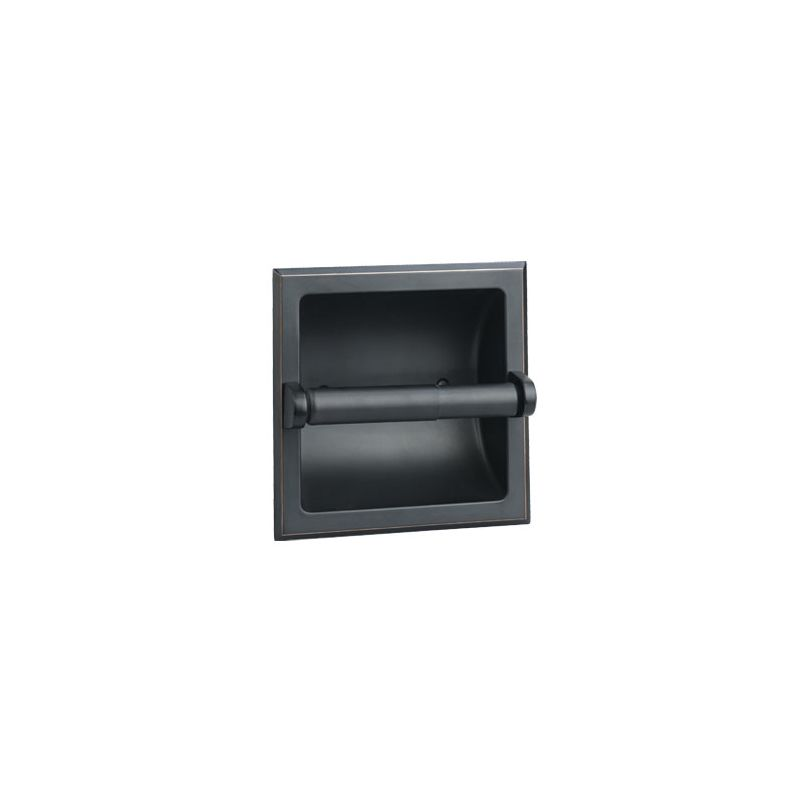 Design House 539254 Oil Rubbed Bronze Recessed Toilet Paper Holder from the Mill photo