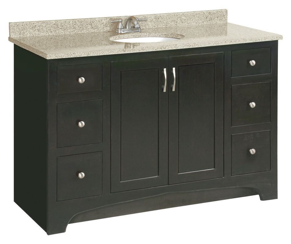 Design house 531491 claremont 48 wood vanity cabinet only oak fixture single - Bathroom vanity cabinet base only ...