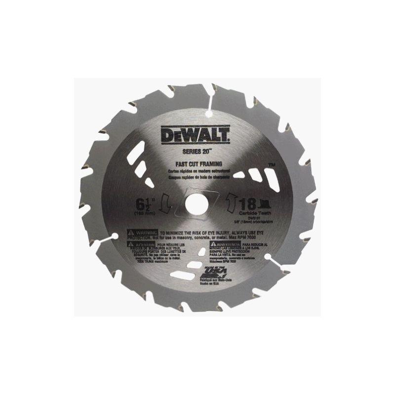 """DEWALT DW3161 6-1//2/"""" 18 Teeth Circular Saw Blade"""