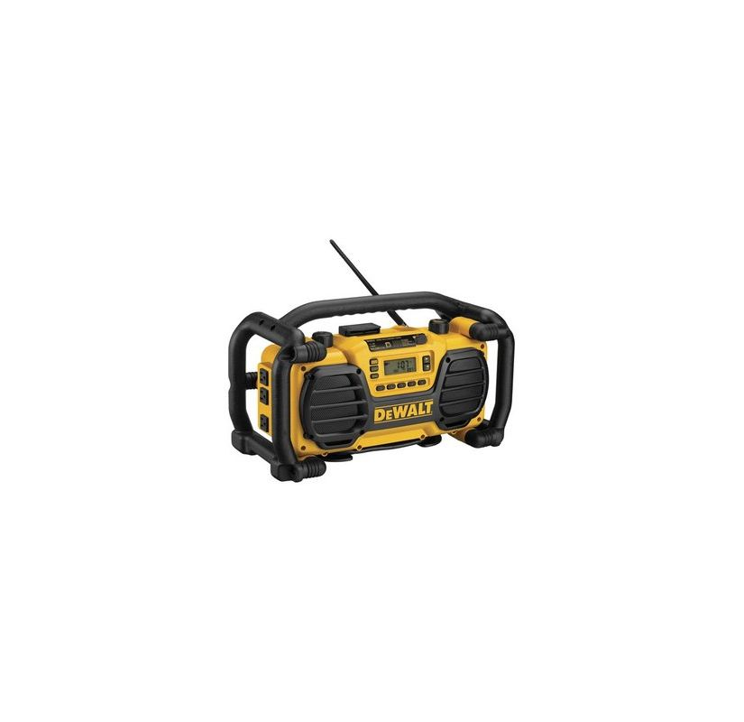 Dewalt DC012-CL Cordless / Corded Worksite Battery Charger Radio with 3 Power Ou