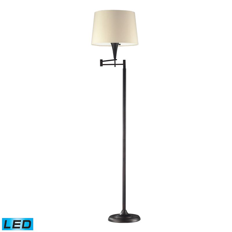 Dimond Lighting 10293/1-LED 1 Light LED Swing Arm Floor Lamp from the Swingarms