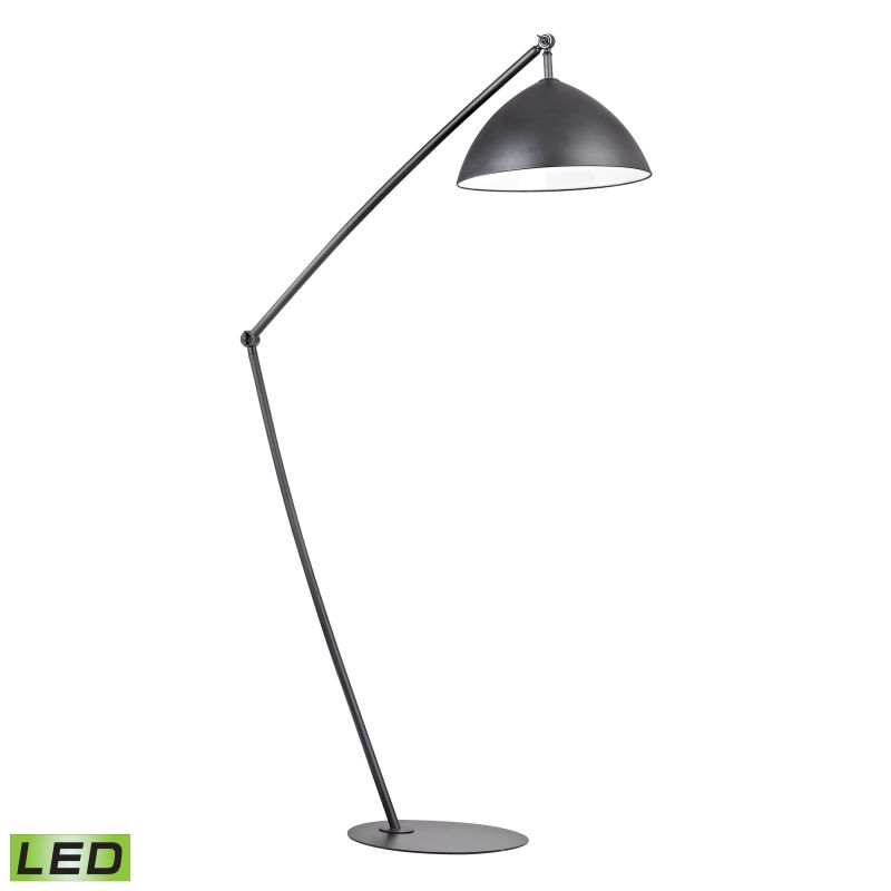 Dimond Lighting D2461-LED 1 Light LED Arc Floor Lamp from the Industrial Element
